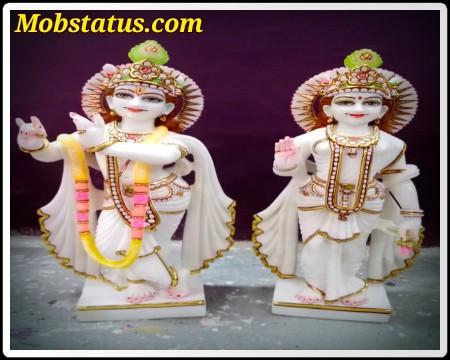 Radhe Krishna Hindi Whatsapp Status Image