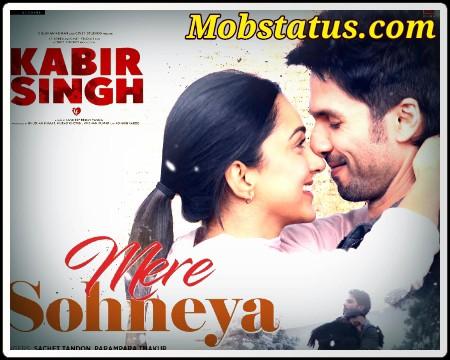 Mere Sohneya Kabir Singh Status Video For Whatsapp