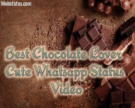 Best Chocolate Lover Cute Whatsapp Status Video