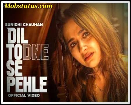 Dil Todne Se Pehle Sunidhi Chauhan Status Video