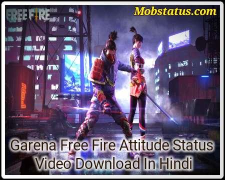 Garena Free Fire Attitude Status Video Download In Hindi