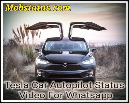 Tesla Car Autopilot Status Video For Whatsapp