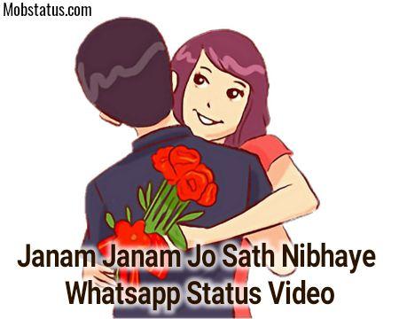 Janam Janam Jo Sath Nibhaye Whatsapp Status Video